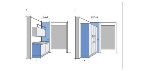 struttura porta distanza porta cucina progettazione valcucine