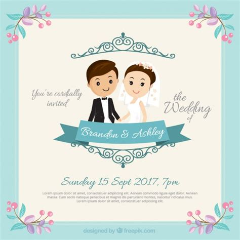Wedding Invitation Vector by Wedding Invitation Vector Free