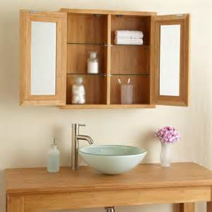 Bamboo Medicine Cabinet by 24 Quot Lusky Bamboo Medicine Cabinet Bathroom