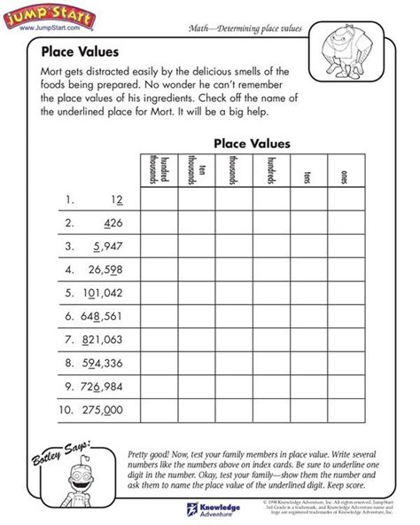 printable worksheets place value 522 best images about 2nd 3rd grade worksheets on pinterest