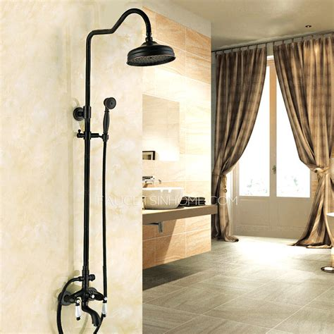 luxury cross handle oil rubbed bronze outdoor shower faucets designer oil rubbed bronze ceramic bathroom shower faucets