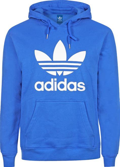 adidas hoodie adidas trefoil hoodie blue white