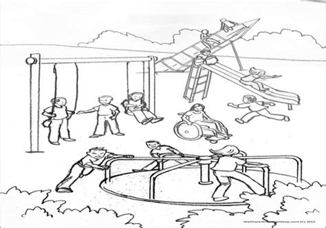 coloring pages school playground playground coloring pages crocodile and on the grig3 org