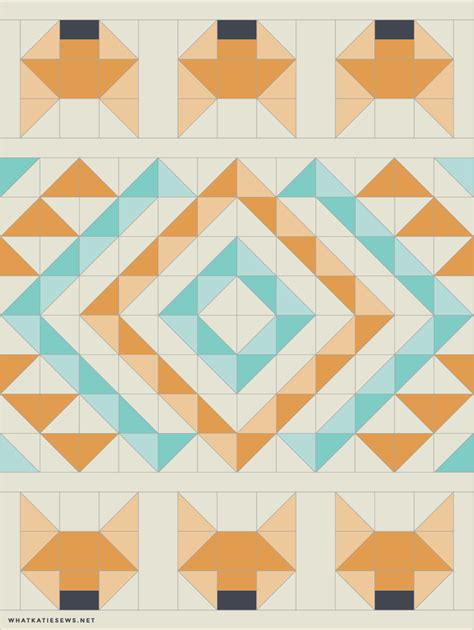 Fox Quilt Pattern by Foxes Quilt What Sews