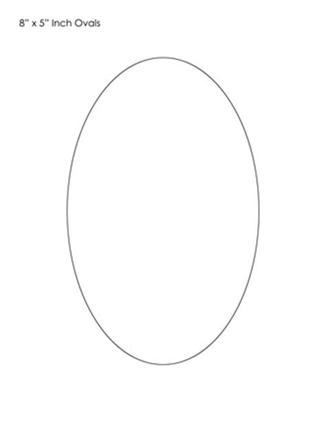 template for oval shape early play templates