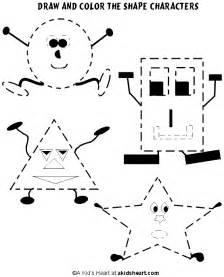 Preschool shape worksheets