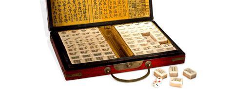 Handmade Mahjong Set - genuine lacquered mahjong set the green