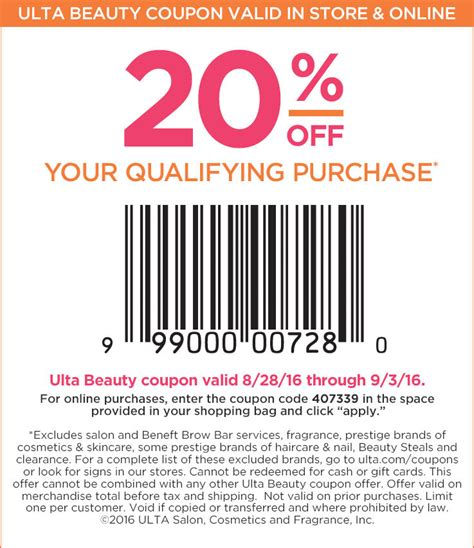 ulta printable discount coupons cosmetics fragrance skincare and beauty gifts ulta beauty