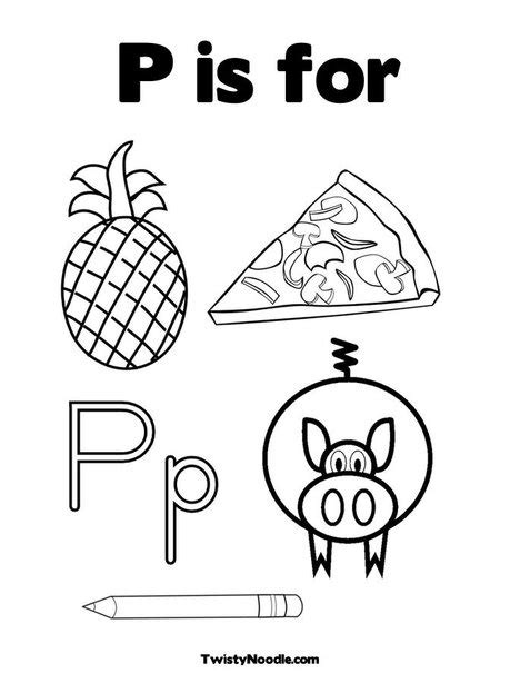 Letter P Coloring Pages Kindergarten by 37 Best Letters Images On Mini Books Noodle