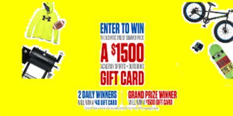 Academy Sports Gift Card - academy sports win one academy sports plus outdoors gift c giveawayus com