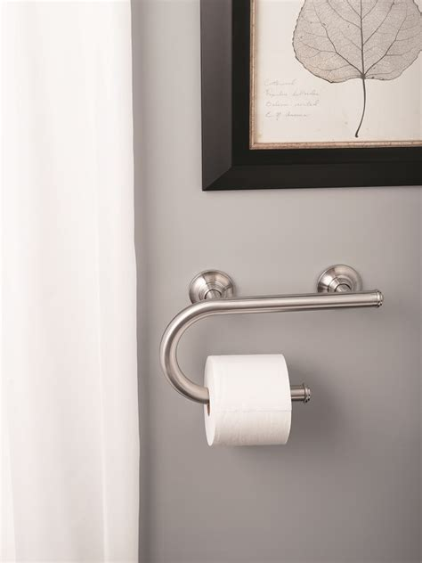 moen 174 designer grab bars with integrated bathroom fixtures