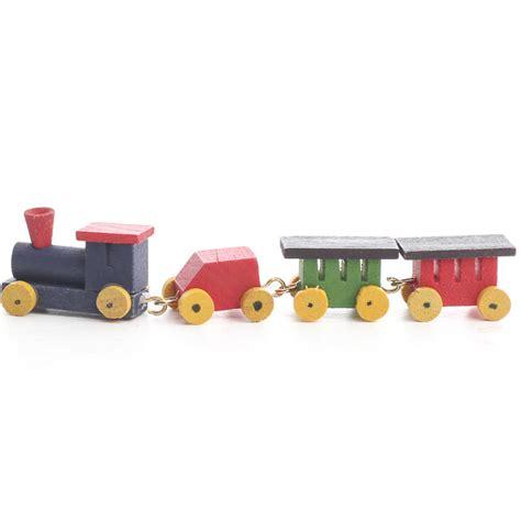 miniature wooden train set christmas miniatures