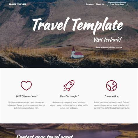 bootstrap templates for about us free bootstrap template 2018