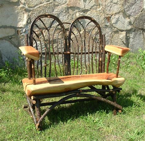love bench garden furniture love this great craftmanship rustic bentwood hickory