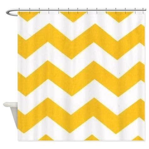 chevron yellow curtains yellow and white chevron shower curtain by thechicboutique85