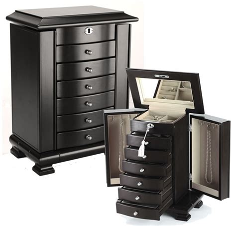 tall standing jewelry armoire tall standing jewelry box armoire java espresso wood