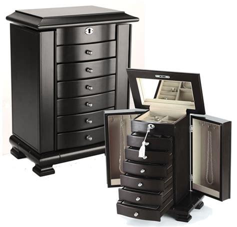 Standing Armoire Jewelry Box by Standing Jewelry Box Armoire Java Espresso Wood Ebay