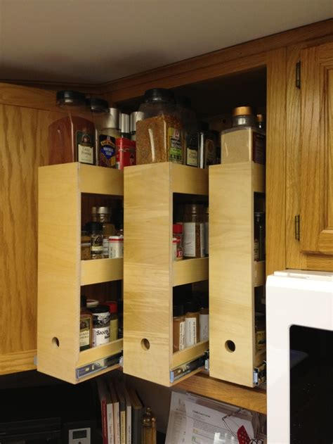 Kitchen Cupboard Storage Solutions - why be bland when you could a spice cabinet
