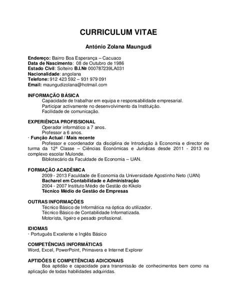 Modelo Curriculum Vitae Actualizado Curriculum Vitae Actualizado