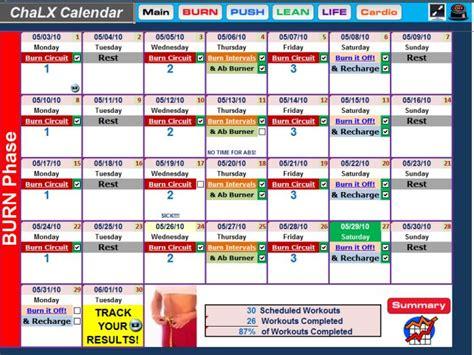 Chalean Workout Calendar Chalean Lean For Calendar Template 2016