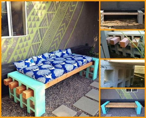 cinder block bench diy diy cinder block outdoor bench all for home pinterest