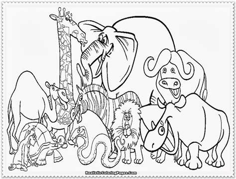 Animals Coloring Page by Zoo Animal Coloring Pages Realistic Coloring Pages