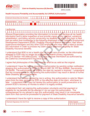 disability form 2006 2018 form ca edd de 2501 fill printable