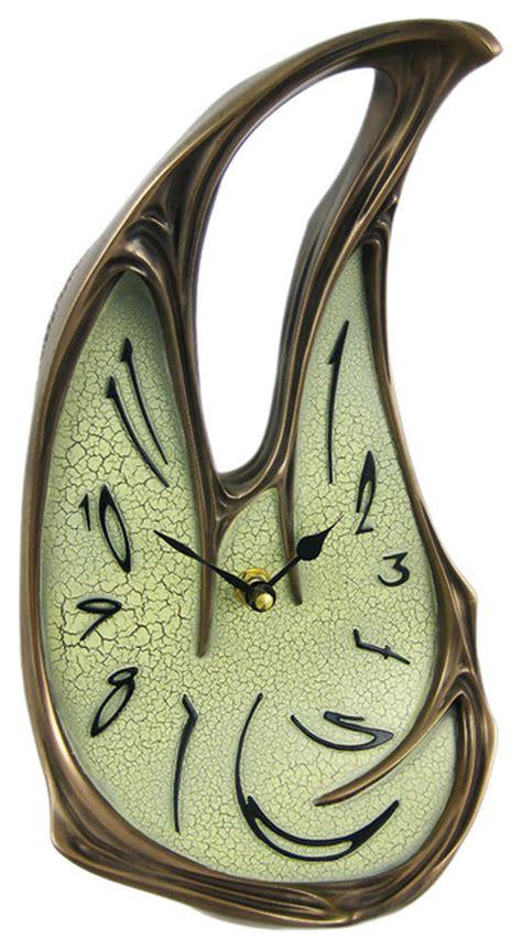 cool desk clocks cool bronze finish melted desk clock table mantel dali