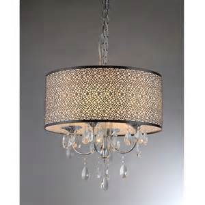 drum chandeliers with crystals warehouse of lush 3 light drum chandelier