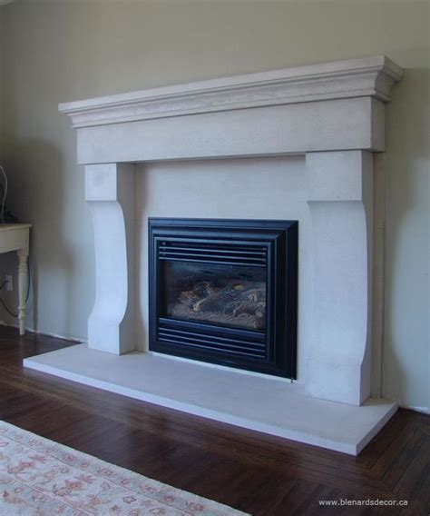 fireplace mantel 03 limestone