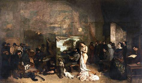 imagenes realistas de gustave courbet la bohemia arte visual el taller del pintor 1855 de