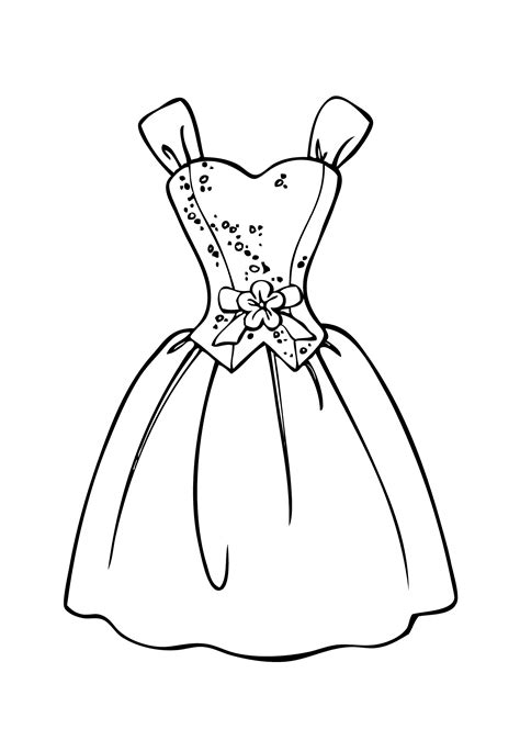 barbie dress coloring page barbie dress coloring page for girls printable free