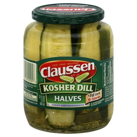 kosher pickles claussen pickles kosher dill halves refrigerated
