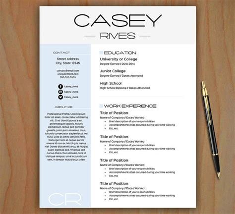 Stylish Resume Templates by Stylish Resume Template Free Cover Letter Easy To Edit