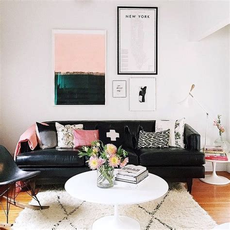 living room decor with black leather sofa 25 best ideas about black leather sofas on