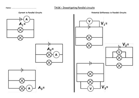 resistors grade 9 gcse aqa physics p4 5 parallel circuits by nteach uk teaching resources tes