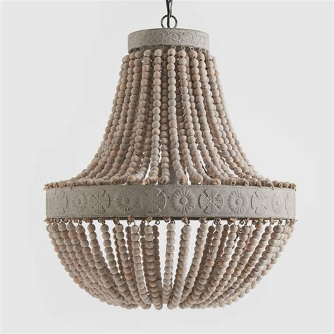Beaded Wood Chandelier Anvers Wooden Bead Chandelier By Horsfall Wright Notonthehighstreet