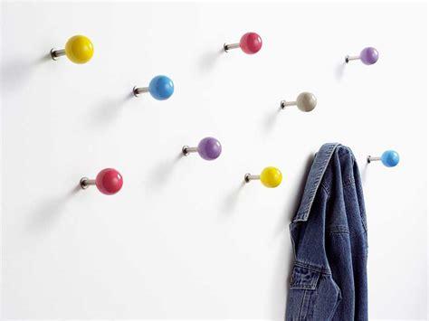 dots garderobe wandhaken dots 5er set bunt rot gelb blau lila grau
