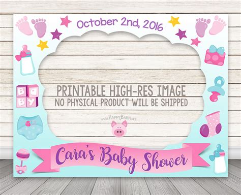 Baby Shower Frame by Printable Baby Shower Photo Booth Frame Baby Shower Photo
