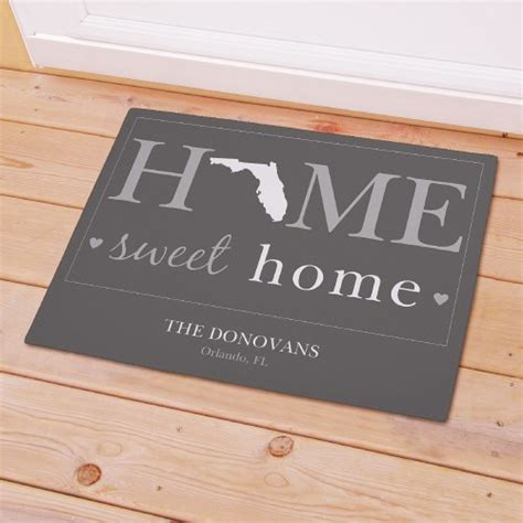 Home Sweet Home Welcome Mat by Personalized Home Sweet Home Welcome Doormat Home Sweet