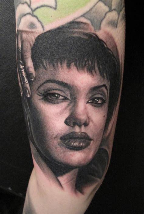 angelina jolie face tattoo bob tyrrell tats pinterest