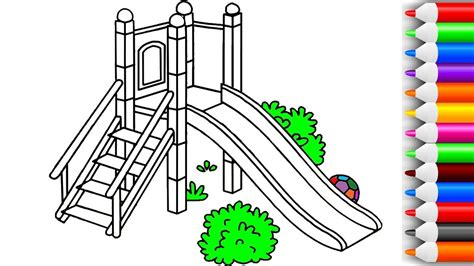 color slider how to draw and color slide in a playground coloring pages