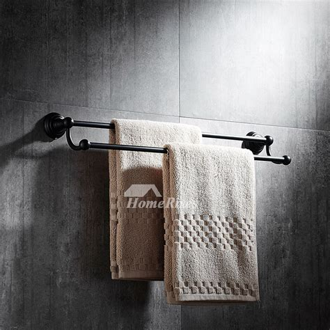 black towel racks bathroom black towel rack wall mount oil rubbed bronze bathroom