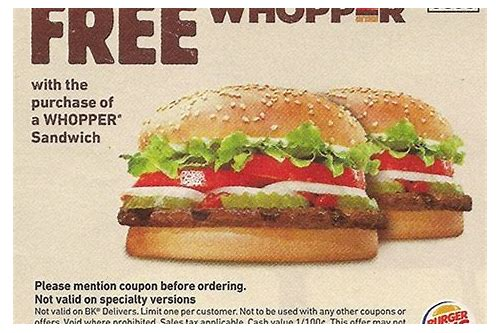 burger king whopper meal coupons