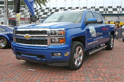 Emergency Blue Lights Chevrolet Brings 2014 Silverado To Pace Nascar Truck