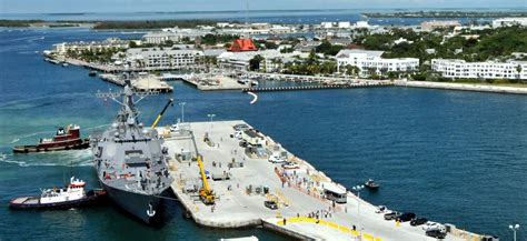 pier b key west on the front lines of rising seas naval air station key