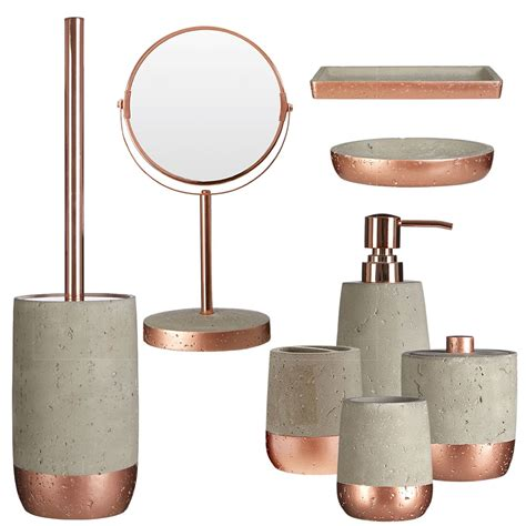 8 pcs new design neptune bathroom accessory set copper and