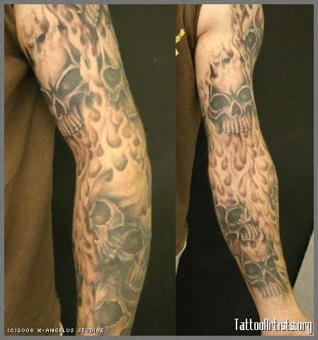 tattoo maker in andheri east flame sleeve tattoo designs flame and skull tattoo
