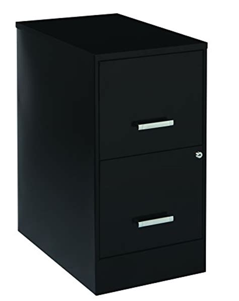 space solutions 2 drawer file cabinet 22 inch black
