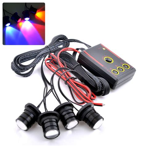 police strobe lights for motorcycles strobe light police lights car styling 4 yellow amber led